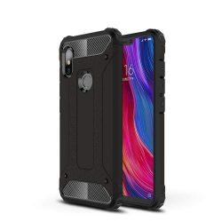 Hibrid Armor telefon tok telefontok (hátlap) tok Ütésálló Robusztus hátlap tok telefon tok Xiaomi redmi 6 NOTE Pro fekete
