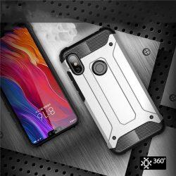 Hibrid Armor telefon tok telefontok (hátlap) tok Ütésálló Robusztus hátlap tok telefon tok Xiaomi redmi 6 NOTE Pro ezüst
