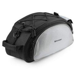 Wozinsky Kerékpár Bike kerékpáros táska hátsó csomagtartó táska vállpánttal 13L fekete (WBB1BK)