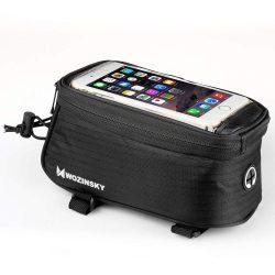 Wozinsky kerékpár első tároló táska kerékpár vázra Phone telefon tok telefontok (hátlap) tok 6,5 hüvelykes max 1,5L fekete (WBB2BK)
