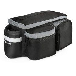 Wozinsky Kerékpár Bike kerékpáros táska hátsó csomagtartó táska vállpánttal és palack ügyben 6L fekete (WBB3BK)