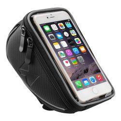 Wozinsky Kerékpár Front Frame Kormány táska érintőképernyős telefon tulajdonosa 6,5 hüvelykes 0,9L fekete (WBB4BK)