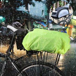 Wozinsky Universal Vízálló Rain Cover for Bike kerékpáros táska vagy hátizsák zöld (WBB5YW)