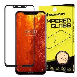 Wozinsky edzett üveg FullGlue Super Tough képernyővédő fólia Teljes Coveraged kerettel telefon tok telefontok (hátlap) tok barát Nokia 8.1 / Nokia X7 fekete kijelzőfólia üvegfólia tempered glass