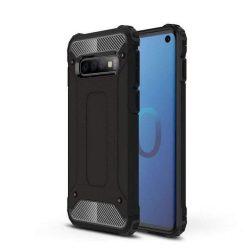 Hibrid Armor telefon tok telefontok Ütésálló Robusztus Cover Samsung Galaxy S10 fekete