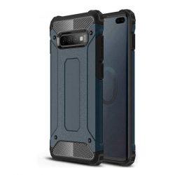 Hibrid Armor telefon tok hátlap tok Ütésálló Robusztus Cover Samsung Galaxy S10 Plus kék
