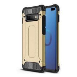 Hibrid Armor telefon tok telefontok (hátlap) tok Ütésálló Robusztus Cover Samsung Galaxy S10 Plus arany