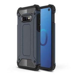 Hibrid Armor telefon tok telefontok Ütésálló Robusztus Cover Samsung Galaxy S10e kék