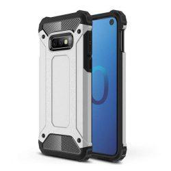 Hibrid Armor telefon tok telefontok Ütésálló Robusztus Cover Samsung Galaxy S10e ezüst