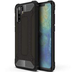 Hibrid Armor telefon tok telefontok (hátlap) tok Ütésálló Robusztus Cover Huawei P30 Pro fekete