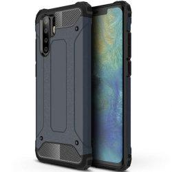 Hibrid Armor telefon tok hátlap tok Ütésálló Robusztus Cover Huawei P30 Pro kék
