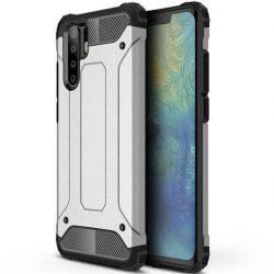 Hibrid Armor telefon tok telefontok (hátlap) tok Ütésálló Robusztus Cover Huawei P30 Pro ezüst