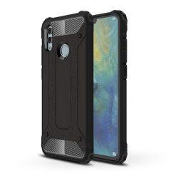 Hibrid Armor telefon tok hátlap tok Ütésálló Robusztus Cover Huawei P smart 2019 fekete