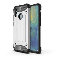 Hibrid Armor telefon tok hátlap tok Ütésálló Robusztus Cover Huawei P smart 2019 ezüst