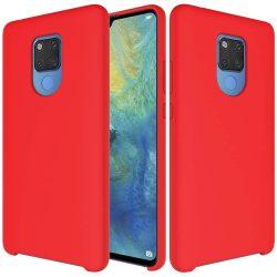 Szilikon tok telefon tok hátlap lágy rugalmas gumi védőborítás Huawei Mate 20 piros