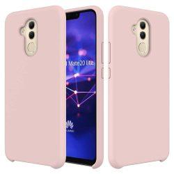 Szilikon telefon tok telefontok (hátlap) lágy rugalmas gumi védőborítás Huawei Mate 20 Lite rózsaszín