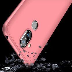 GKK 360 Protection telefon tok hátlap tok Első és hátsó tok telefon tok hátlap az egész testet fedő Nokia 8.1 / Nokia X7 rózsaszín
