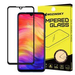 Wozinsky edzett üveg Teljes Glue Super Tough képernyővédő fólia Teljes Coveraged kerettel telefon tok hátlap tok barátságos Xiaomi redmi 7 NOTE fekete kijelzőfólia üvegfólia tempered glass