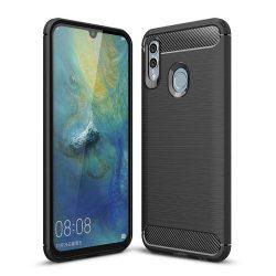 Carbon telefon tok hátlap tok rugalmas Cover TPU tok telefon tok hátlap Huawei P smart 2019 / Honor 10 Lite fekete