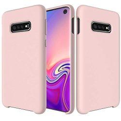 Szilikon telefon tok telefontok lágy rugalmas gumi Cover Samsung Galaxy S10 rózsaszín