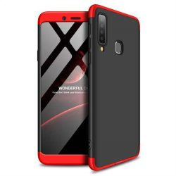 GKK 360 Protection tok Első és hátsó tok az egész testet fedő Samsung Galaxy A9 2018 A920 fekete-piros telefontok