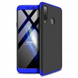GKK 360 Protection tok Első és hátsó tok az egész testet fedő Samsung Galaxy A9 2018 A920 fekete-kék telefontok