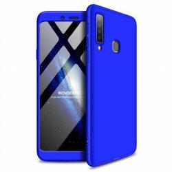 GKK 360 Protection tok Első és hátsó tok az egész testet fedő Samsung Galaxy A9 2018 A920 kék telefontok