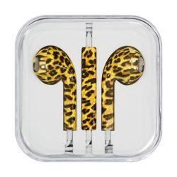 Fejhallgató mikrofonnal iPhone iPad iPod leopárd (Style 10)