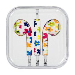 Fejhallgató mikrofonnal iPhone iPad iPod virágok (modell 11)
