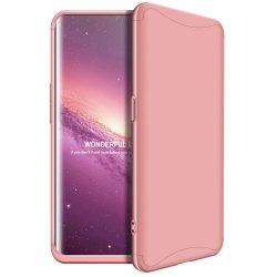GKK 360 Protection telefon tok hátlap tok Első és hátsó tok telefon tok hátlap az egész testet fedő Oppo Find X rózsaszín