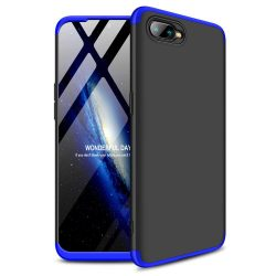GKK 360 Protection telefon tok hátlap tok Első és hátsó tok telefon tok hátlap az egész testet fedő Oppo RX17 Neo fekete-kék