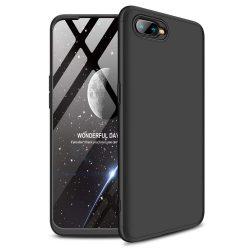 GKK 360 Protection telefon tok hátlap tok Első és hátsó tok telefon tok hátlap az egész testet fedő Oppo RX17 Neo fekete