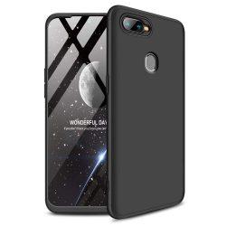 GKK 360 Protection telefon tok hátlap tok Első és hátsó tok telefon tok hátlap az egész testet fedő Oppo AX7 fekete