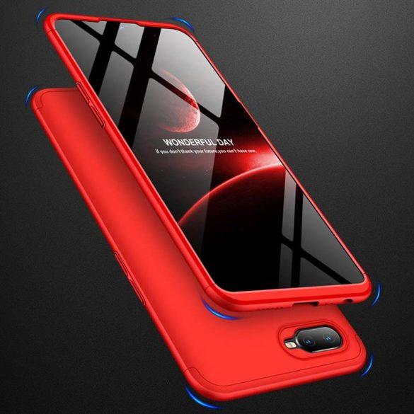 GKK 360 Protection telefon tok telefontok Első és hátsó az egész testet fedő Oppo AX7 piros