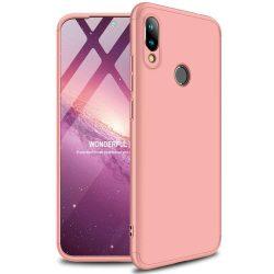 GKK 360 Protection telefon tok hátlap tok Első és hátsó tok telefon tok hátlap az egész testet fedő Xiaomi redmi 7 NOTE rózsaszín