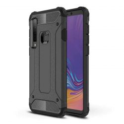 Hibrid Armor telefon tok hátlap tok Ütésálló Robusztus Cover Samsung Galaxy A9 2018 A920 fekete