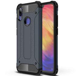 Hibrid Armor telefon tok hátlap tok Ütésálló Robusztus hátlap tok telefon tok Xiaomi redmi 7 NOTE kék