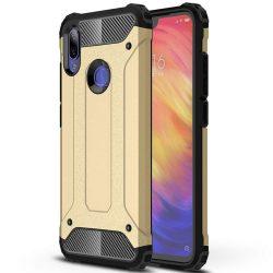 Hibrid Armor telefon tok telefontok Ütésálló Robusztus telefon tok Xiaomi redmi 7 NOTE arany