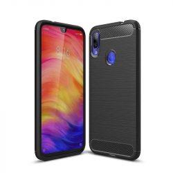 Carbon telefon tok hátlap tok rugalmas Cover TPU tok telefon tok hátlap Xiaomi redmi 7 NOTE fekete