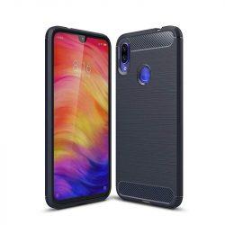 Carbon telefon tok telefontok rugalmas Cover TPU Xiaomi redmi 7 NOTE kék