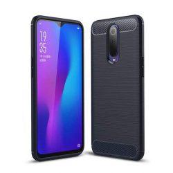 Carbon telefon tok hátlap tok rugalmas Cover TPU tok telefon tok hátlap Oppo RX17 Pro kék