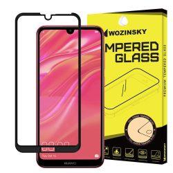 Wozinsky edzett üveg FullGlue Super Tough képernyővédő fólia Teljes Coveraged kerettel telefon tok telefontok (hátlap) tok barát Huawei Y7 2019 / Y7 Pro 2019 / Y7 Prime 2019 fekete kijelzőfólia üvegfólia tempered glass