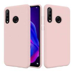 Szilikon tok telefon tok hátlap lágy rugalmas gumi védőborítás Huawei P30 Lite rózsaszín