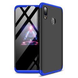 GKK 360 Protection telefon tok hátlap tok Első és hátsó tok telefon tok hátlap az egész testet fedő Huawei P smart 2019 fekete-kék