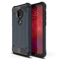 Hibrid Armor telefon tok telefontok (hátlap) tok Ütésálló Robusztus Cover Motorola Motorola G7 Plus / G7 kék