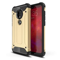 Hibrid Armor telefon tok telefontok (hátlap) tok Ütésálló Robusztus Cover Motorola Motorola G7 Plus / G7 arany
