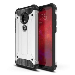 Hibrid Armor telefon tok telefontok (hátlap) tok Ütésálló Robusztus Cover Motorola Motorola G7 Plus / G7 ezüst