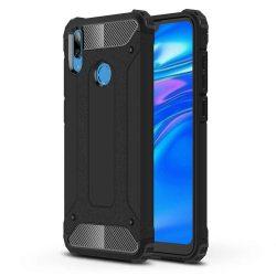 Hibrid Armor telefon tok hátlap tok Ütésálló Robusztus Cover Huawei S6 2019 fekete
