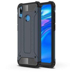 Hibrid Armor telefon tok telefontok Ütésálló Robusztus Cover Huawei Y6 2019 kék