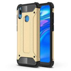 Hibrid Armor telefon tok telefontok Ütésálló Robusztus Cover Huawei Y7 2019 / Y7 Prime 2019 arany